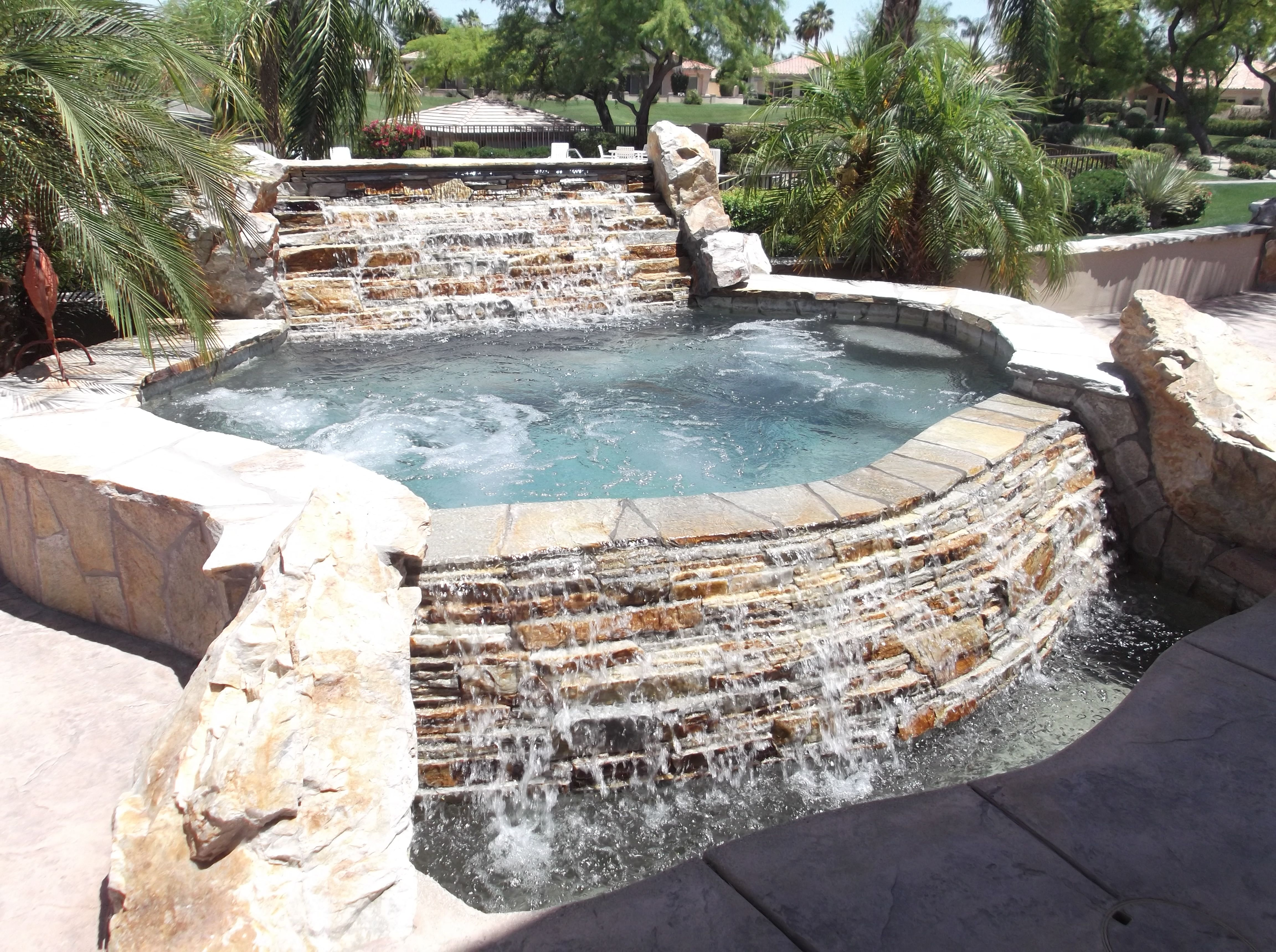 palm desert indian ridge spool with two spillways american