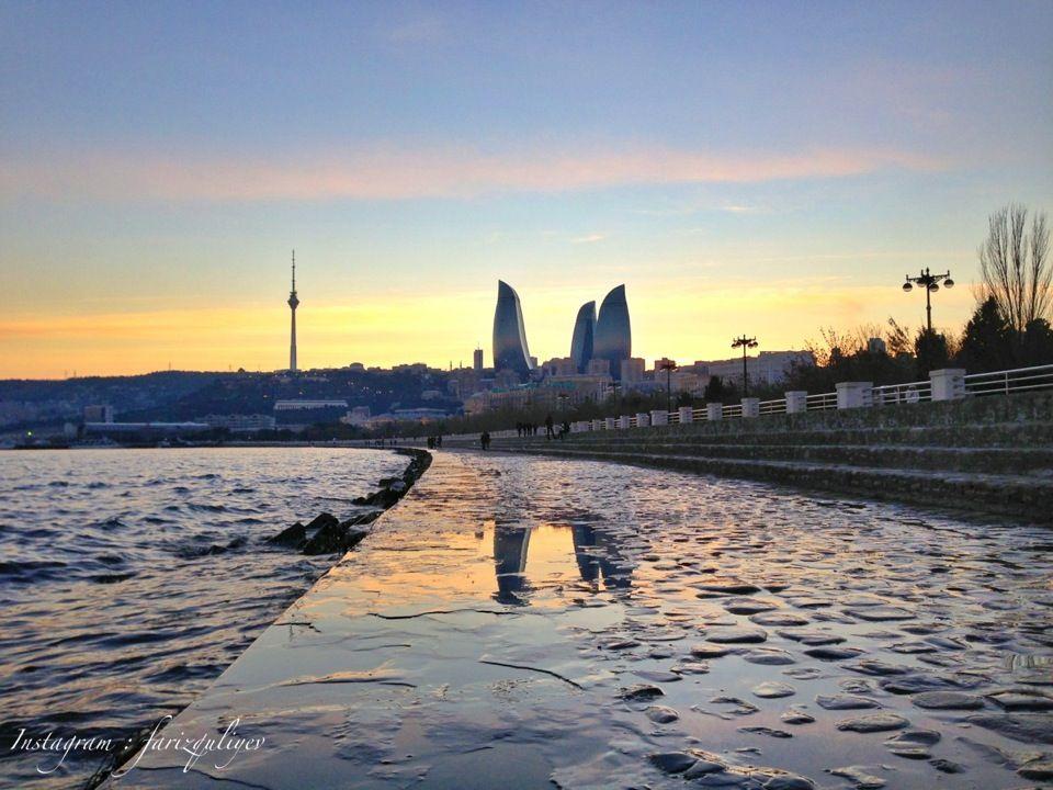 Dənizkənari Bulvar Seaside Boulevard Azerbaijan Travel Baku City Azerbaijan