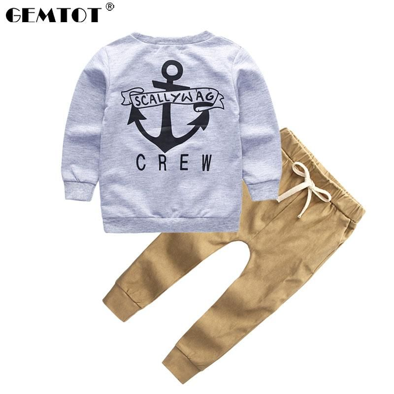 9befb3e79 2pcs Long Sleeved Fall Letters T-shirt+Pants Children Navy's Clothing Set  #baby #motherhood #mummy #l4l #instafollow #newborngirl #followback #summer  ...