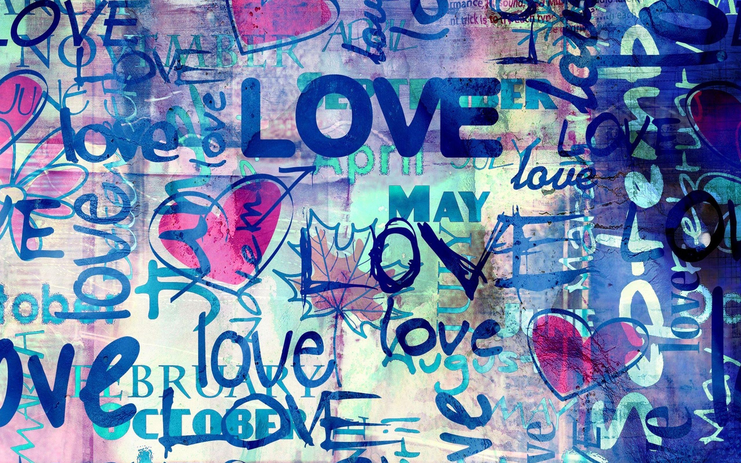 Graffiti love wallpaper