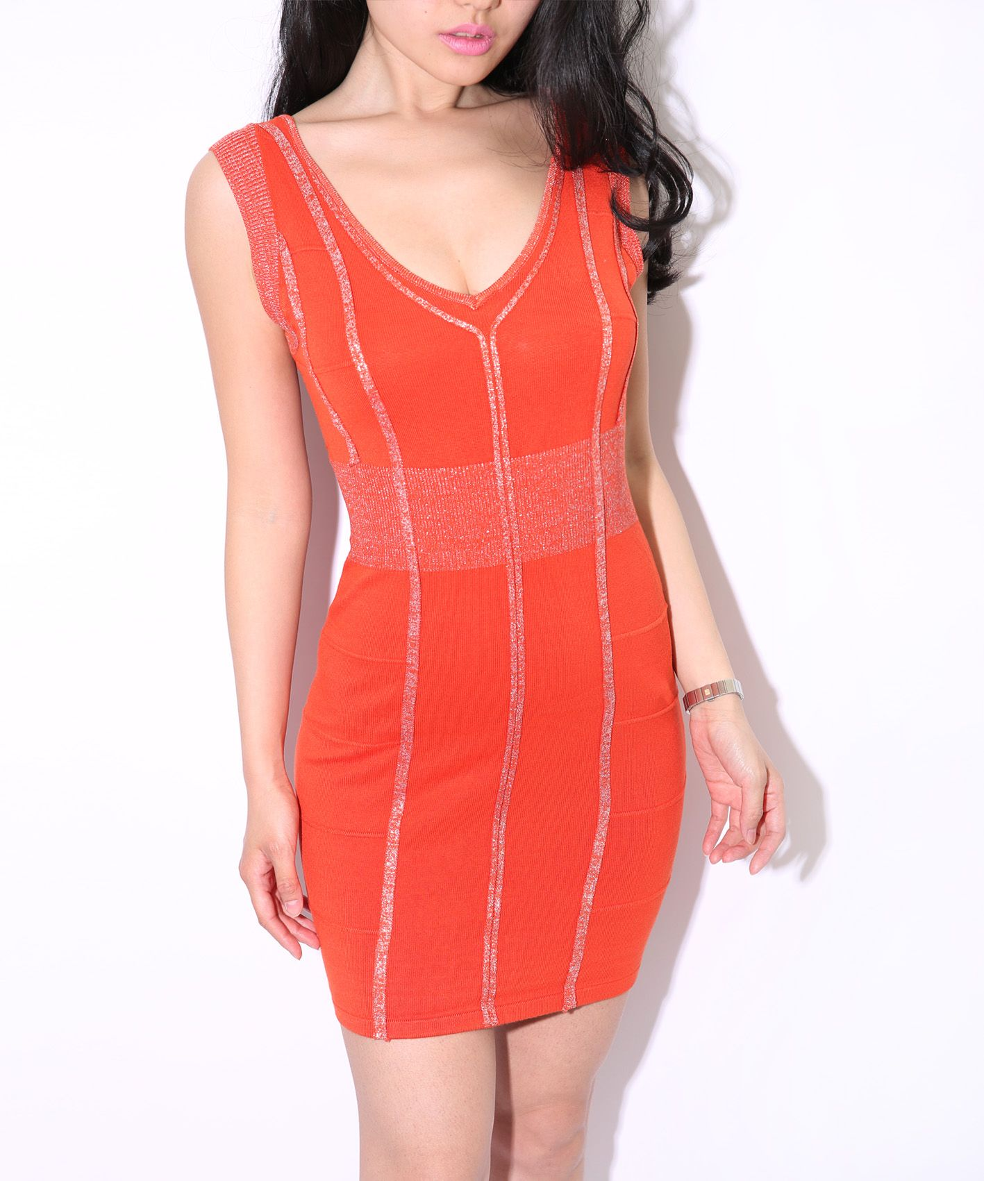 sexy Knitted Bandage Dress Women's Short Sleeve Backless lace Evening Party Dress