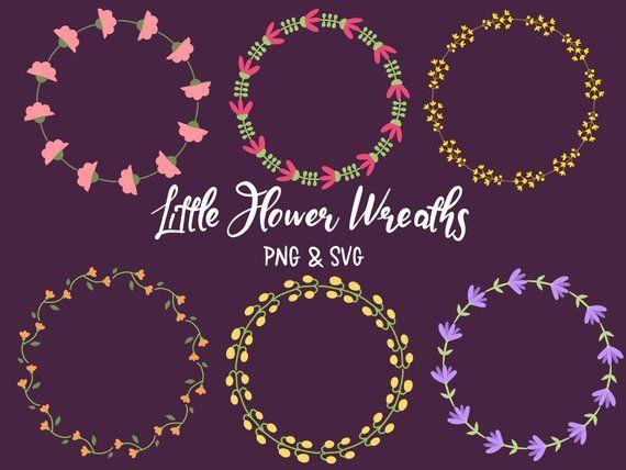 Photo of FLORAL WREATHS, hand-drawn wreaths, doodle clipart, floral wreaths, rustic, drawn wreaths, svg, vector wreaths, wedding, minimal