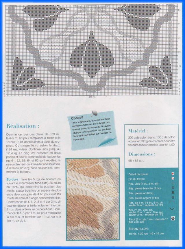 Paradie du crochet - 3. Napperon coeur d'or | korie.artblog.fr