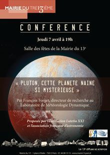 Mairie du 13e - « Pluton, cette planète naine si mystérieuse »