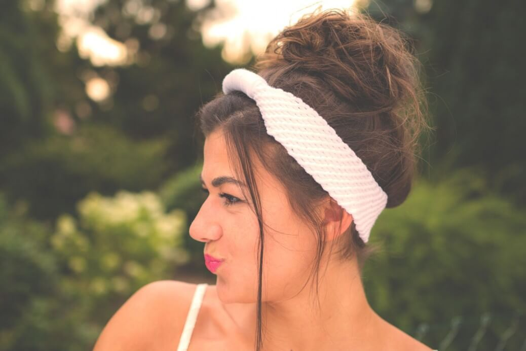 Ein Haarband / Stirnband tunesisch häkeln   Anleitungen   Pinterest ...