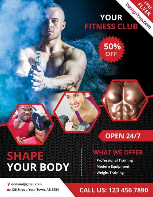Free Fitness And Gym Flyer Psd Template Freepsdflyer Comg 500