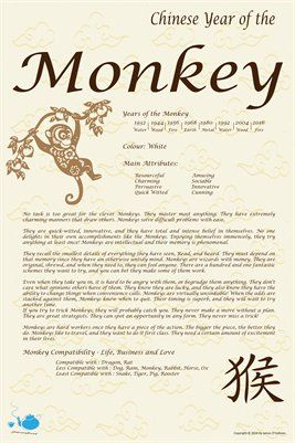 Chinese Zodiac Chinese Zodiac Year Of The Monkey 9 00 From Magcloud Zodiac Pinterest
