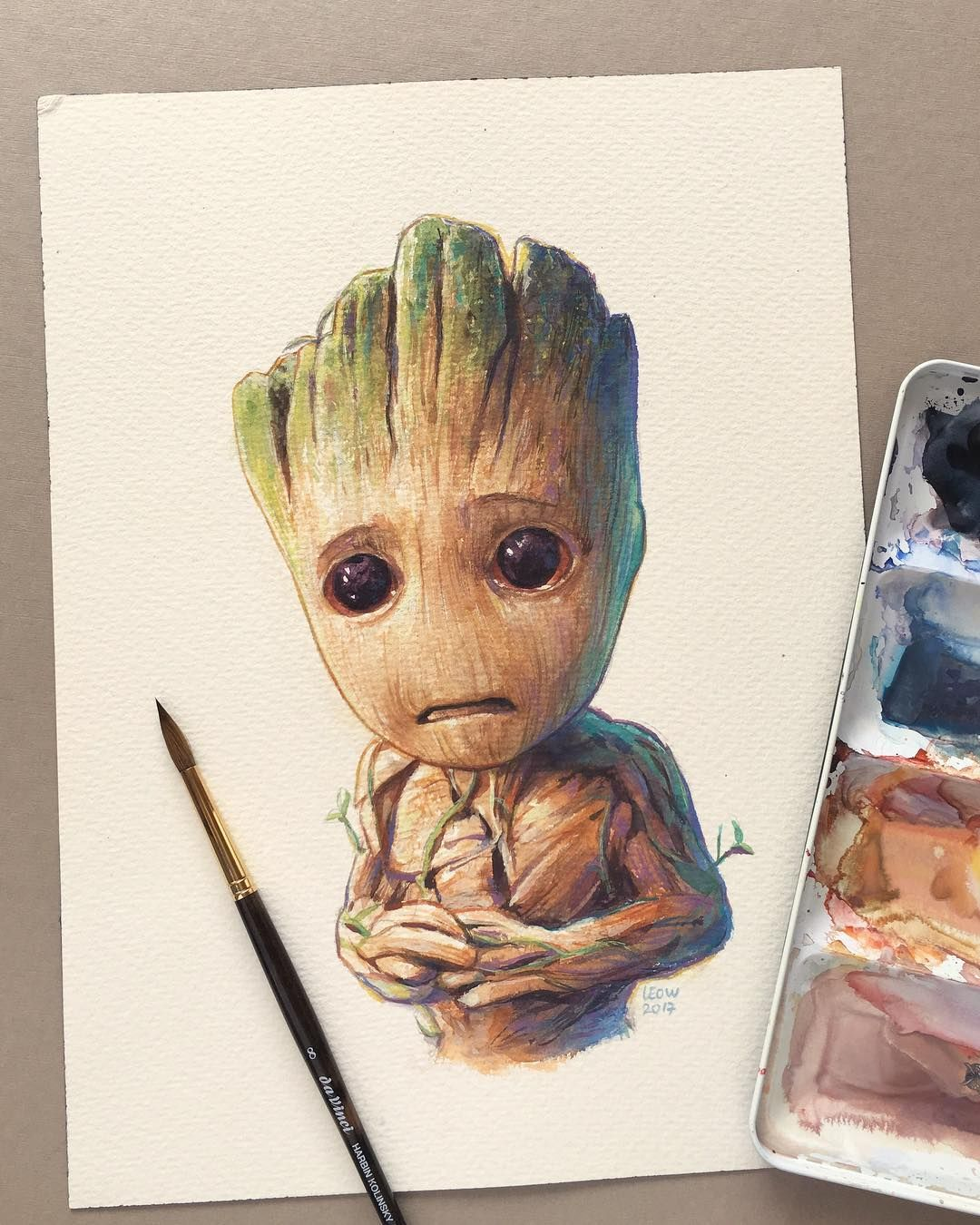 Baby Groot By Leow Drawing Class Baby Groot Pinterest Baby