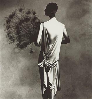 "Irving Penn's photograph ""Vionnet Dress with Fan"""