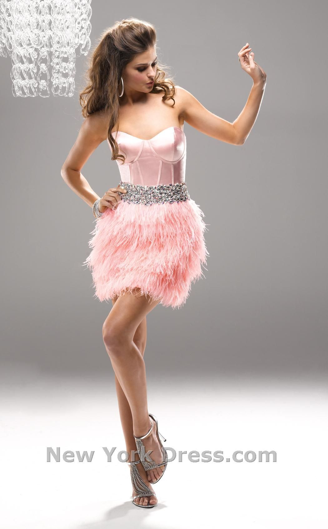 Maggie sottero pink feather dress sweet with pink feathers