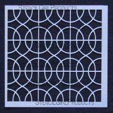 Stencil Girl Products - So many to choose from! Curvie Lattice 6 Stencil S012