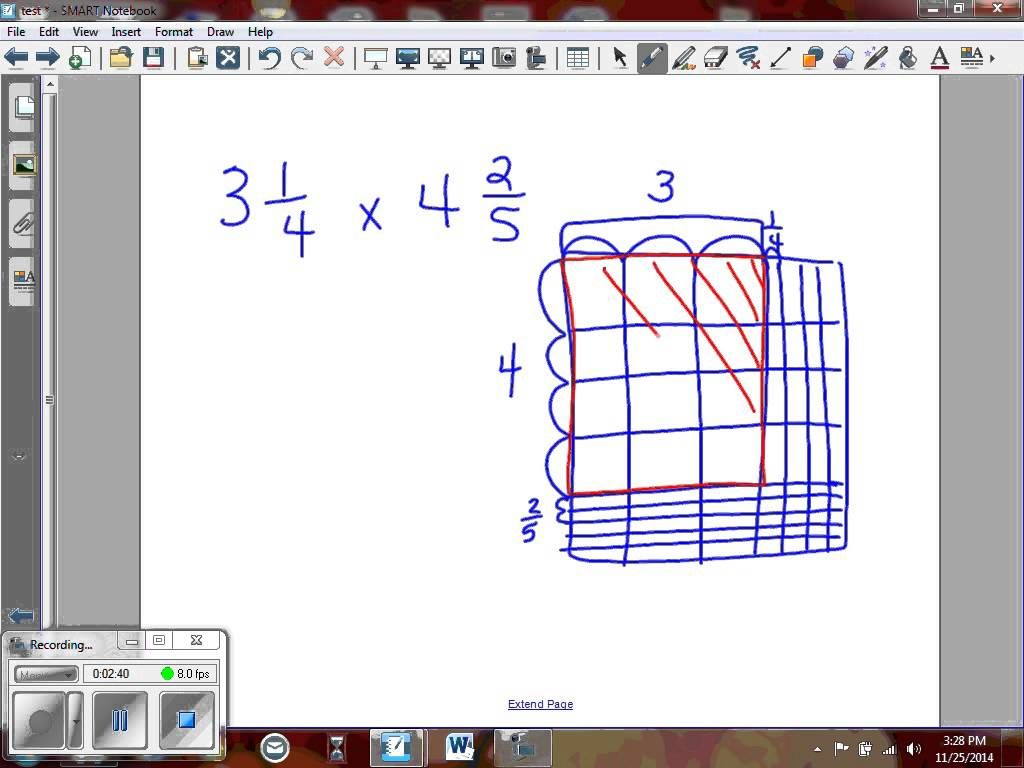 5 Nf 6 Multiplying Mixed Numbers Using The Area Model