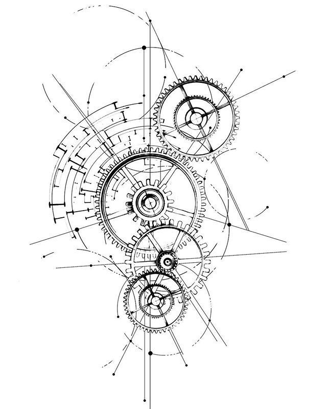 """Photo of Gearing 🔘📽⚙️ design pour demain! #tattoodesign #gearing – Gearing    """"…"""