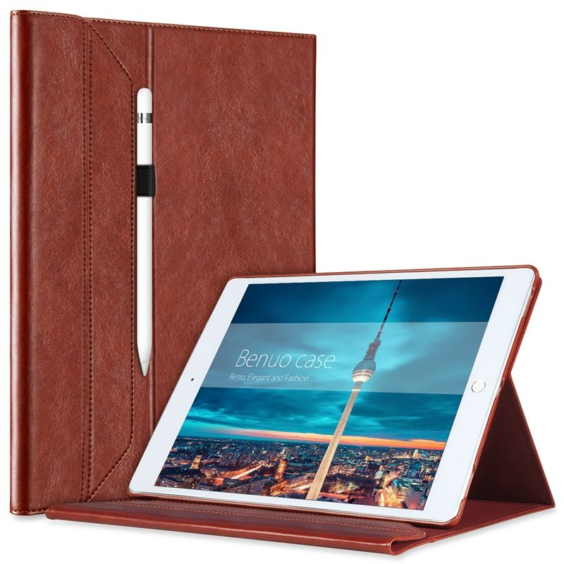 Ipad Pro 9.7 Case With Pencil Holder New Benuo Portfolio Case For Ipad Pro 129 Cover Brief Leather Case With Design Decoration