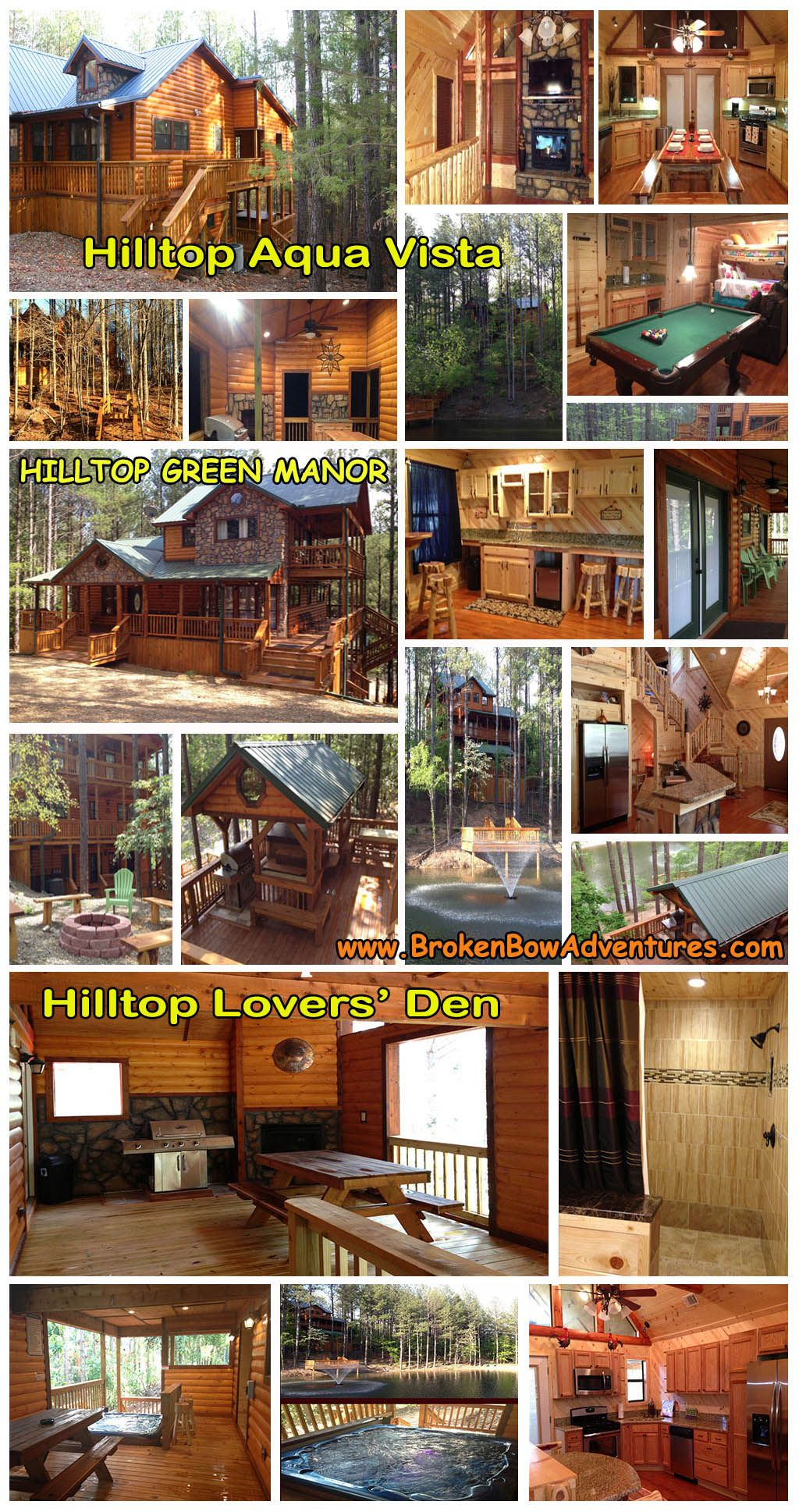 1 8 Bedroom Up Scale Luxury State Of The Art Pet Friendly Wheelchair Accessible Cabins With Creek View Or Private Lakes In B Cabin Broken Bow Broken Bow Cabins