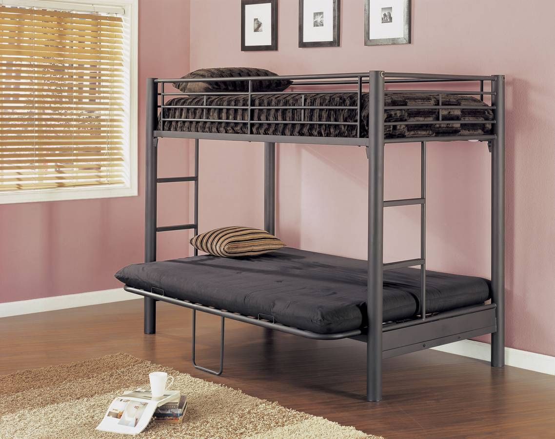Futon Bunk Bed with Mattresses Interior Paint Color