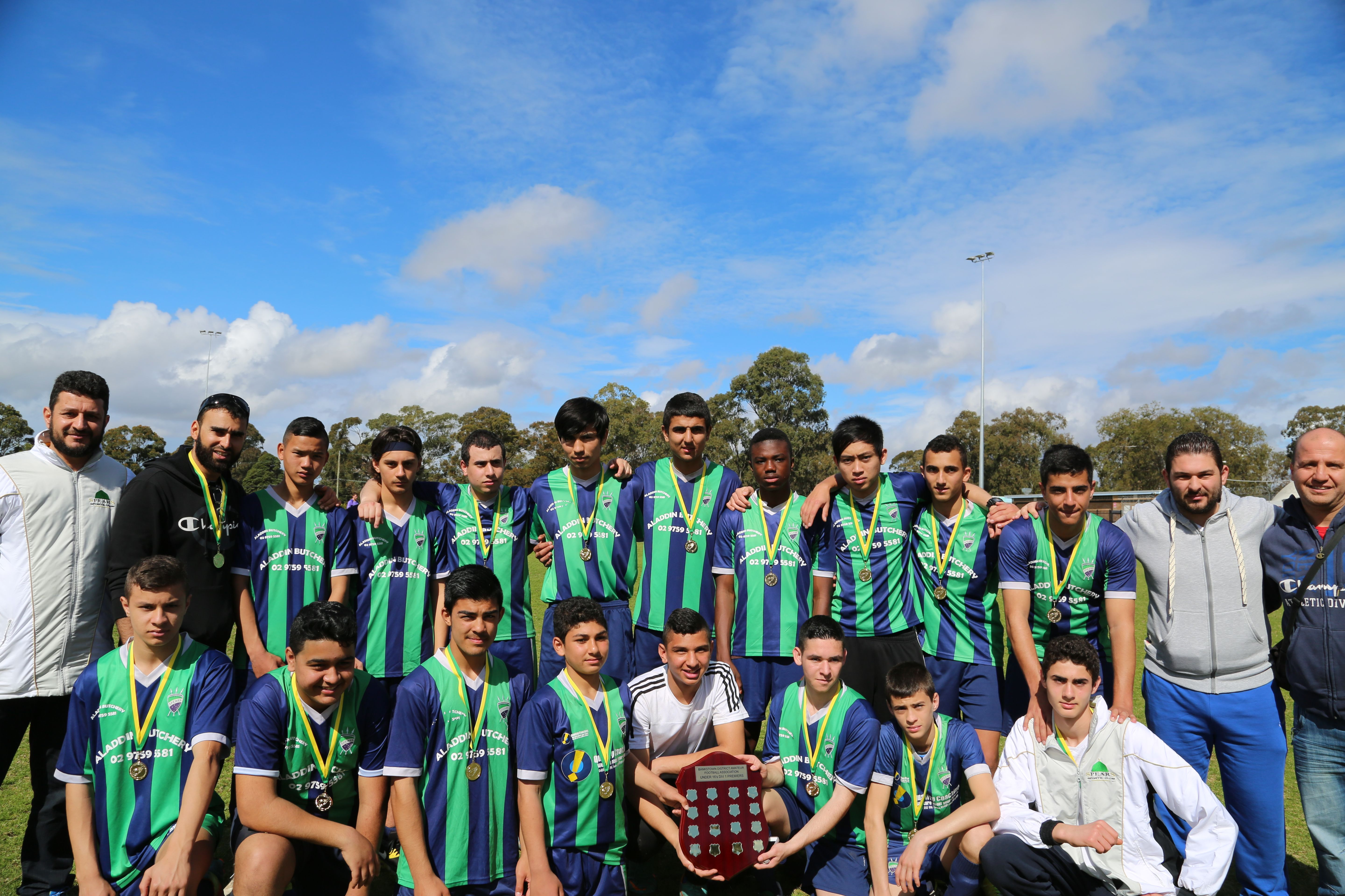 Spears Sports Club win the competition, Congratulations to