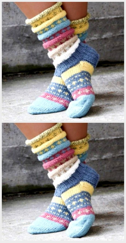 Photo of Tutti Frutti sokken. Norwegische Strickidee für hübsche Socken – Stric …