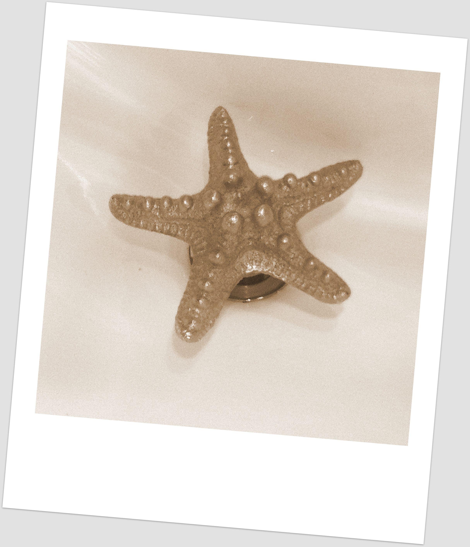 Metal Starfish Decorative Bathroom Sink Drains | Ocean ...