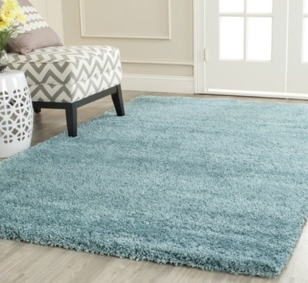 Soft Aqua Blue Shag Area Rug Rugs 8 X 10 4 6 5 8 7 10 8 10 9 12