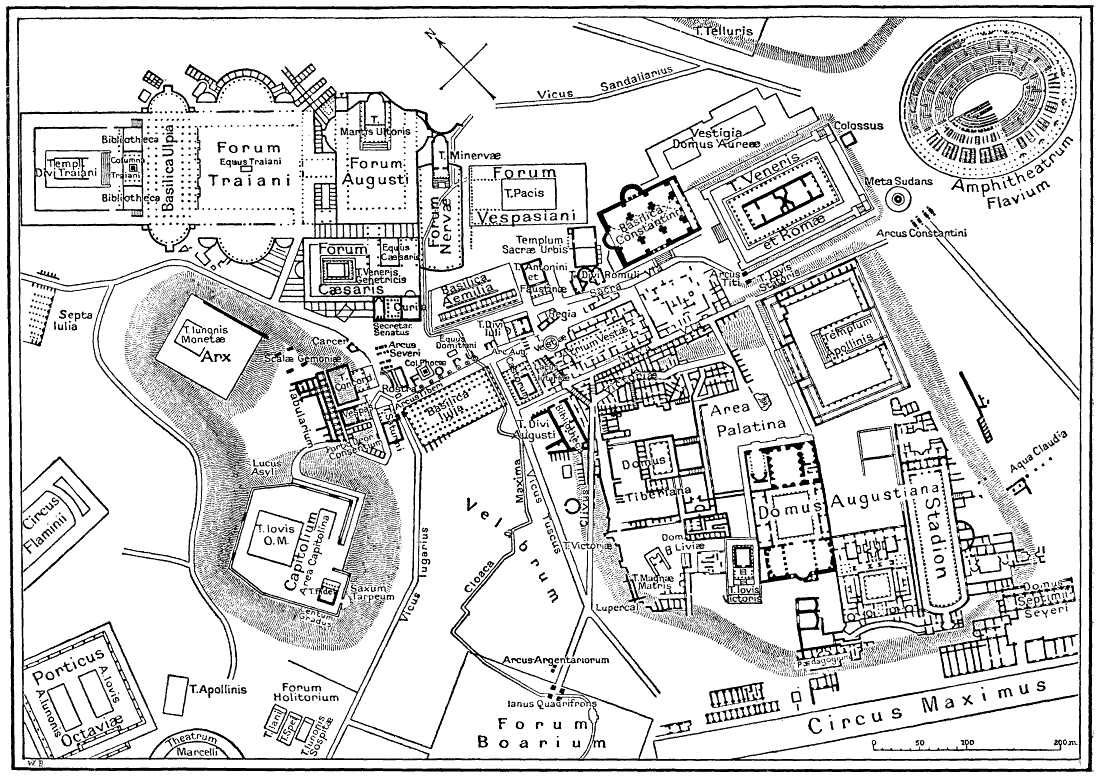 A Nice Map Of The Layout Of Ancient Roma