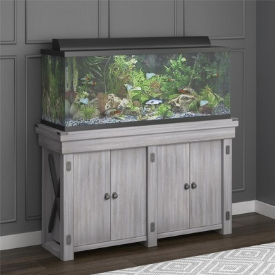 Hathaway 55 Gallon Aquarium Stand Rustic White Flipper 55 Gallon Aquarium Stand Fish Tank Stand Aquarium Stand