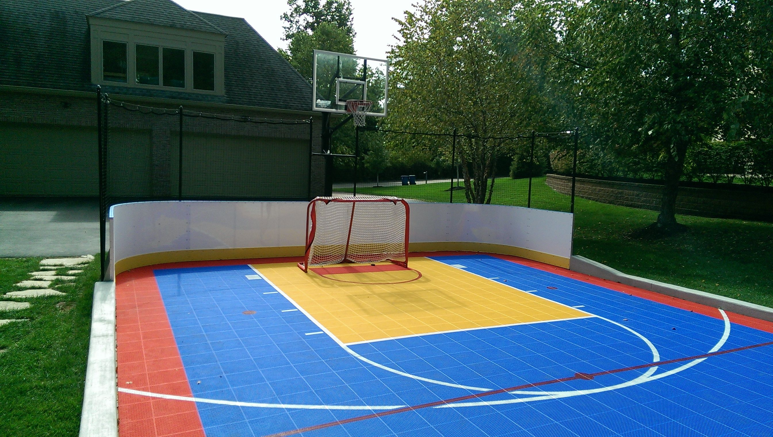 Backyard multi sport game court yard pinterest for Backyard sport court