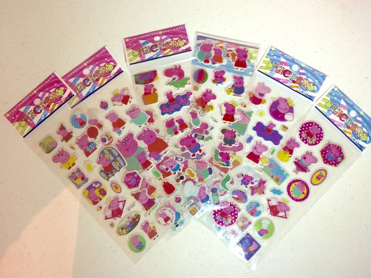 amazon com 6 sheets peppa pig puffy stickers toys u0026 games for