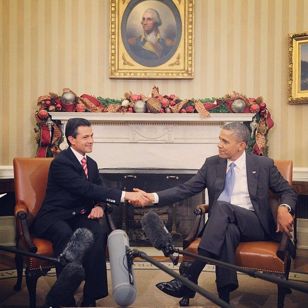 Se reúnen Peña Nieto y Barack Obama. El presidente electo planteó al mandatario estadunidense establecer una relación eficaz para construir una frontera segura entre ambas naciones #InstagramMILENIO Foto: AFP