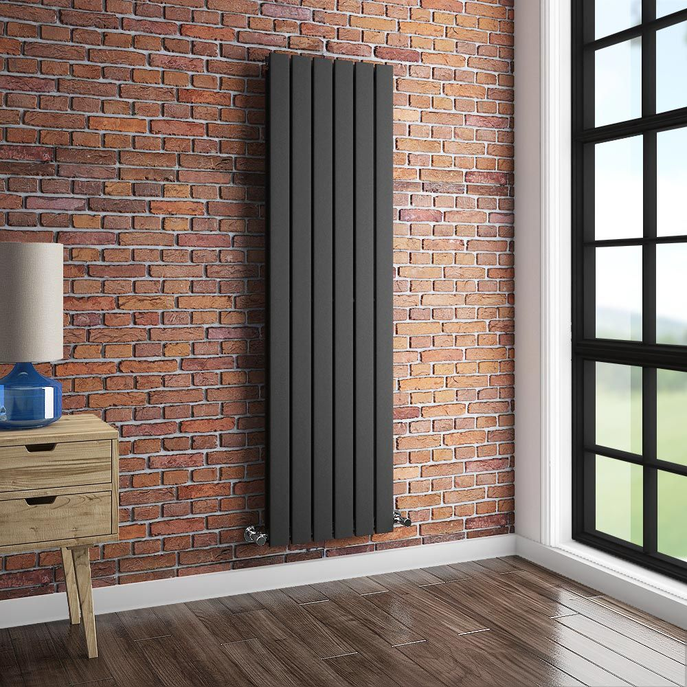 Urban Vertical Radiator   Anthracite   Double Panel (1600mm High)