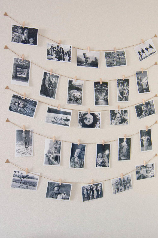 string pegs photograph display diy tutorial olivia bedroom inspiration pinterest. Black Bedroom Furniture Sets. Home Design Ideas