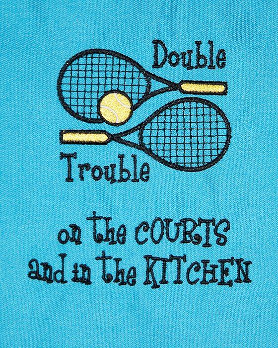 Double Trouble Tennis Apron Captain S Gifts Captain Gifts Tennis Shirts Tennis Skirts