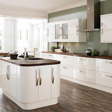 Best Cooke Lewis High Gloss Cream Kitchen Ranges Kitchen 640 x 480
