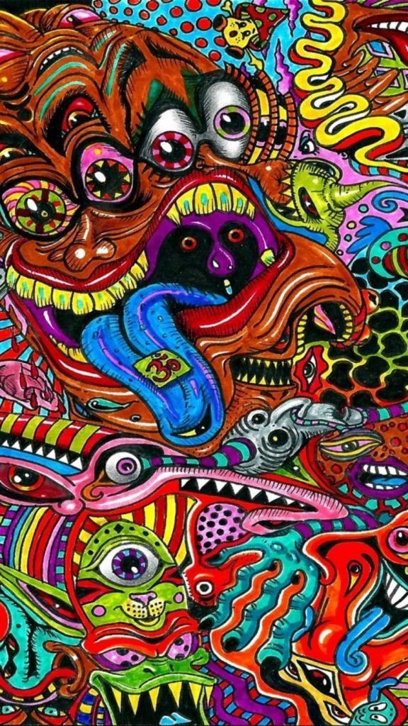 Trippy iPhone Wallpaper Trippy iphone wallpaper, Hippie