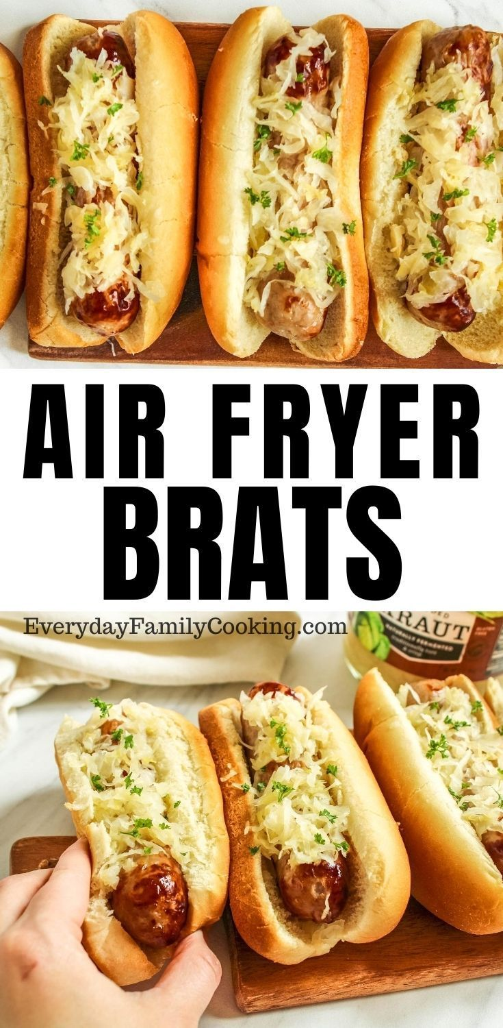 Air Fryer Brats From Fresh and Frozen! in 2020 Air