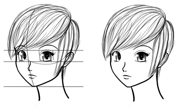 Anime Head Tutorial Drawing Heads At Three Quarter Angles Manga Tuts Anime Head Anime Drawings Manga Drawing