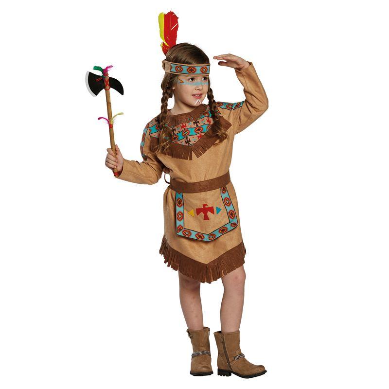 Neu Kinder Kostum Indianerin Cherokee Gr 140 25 Party Disc