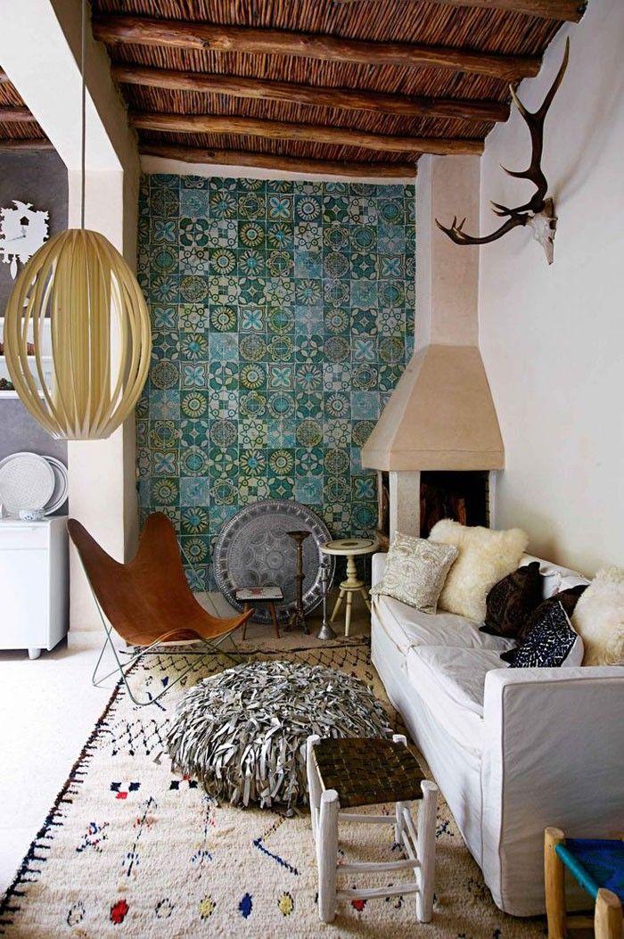 Marokkanische Fliesen Zementfliesen Interirdesign Ideen Wohnung Design  Anders Denken Mosaik Fliesen Kreative Wandgestaltung Grün