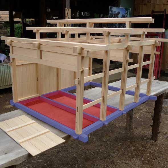 Traditional Japanese House Framing