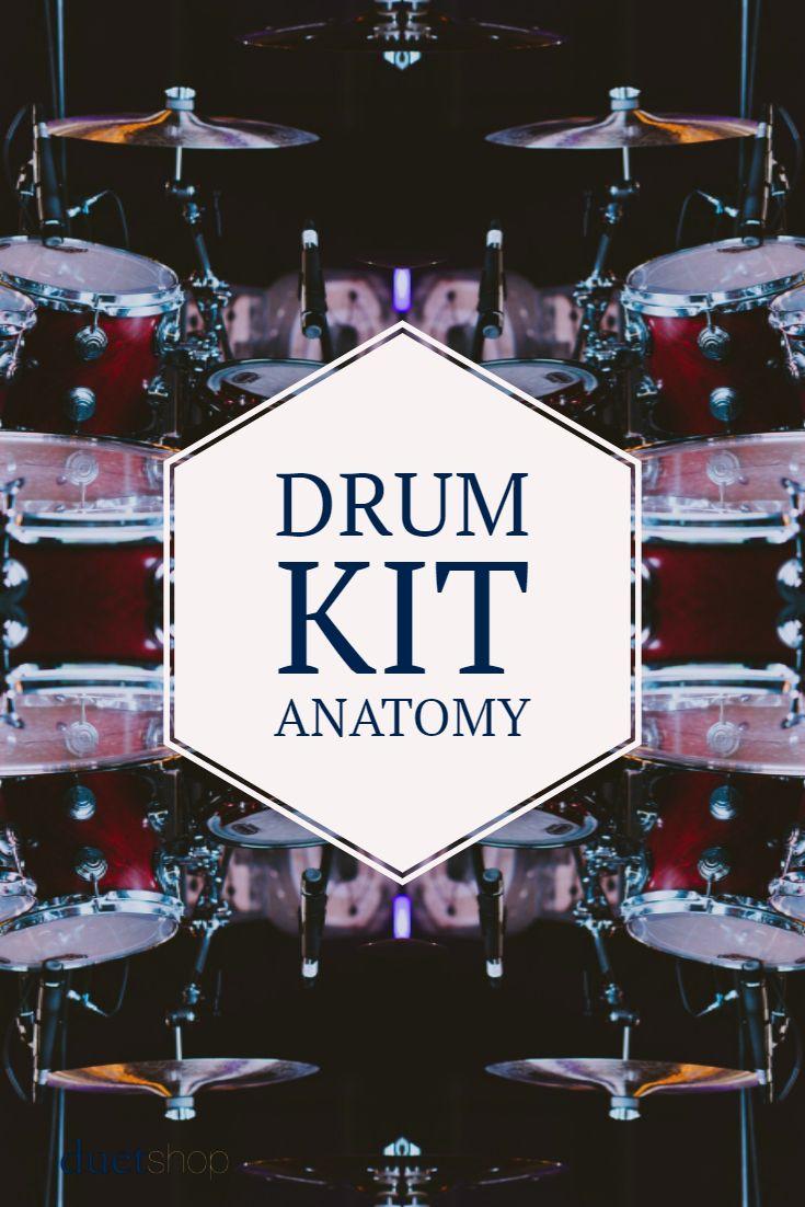 Drum Kit Anatomy   Drum kit, Drums and Bass drum