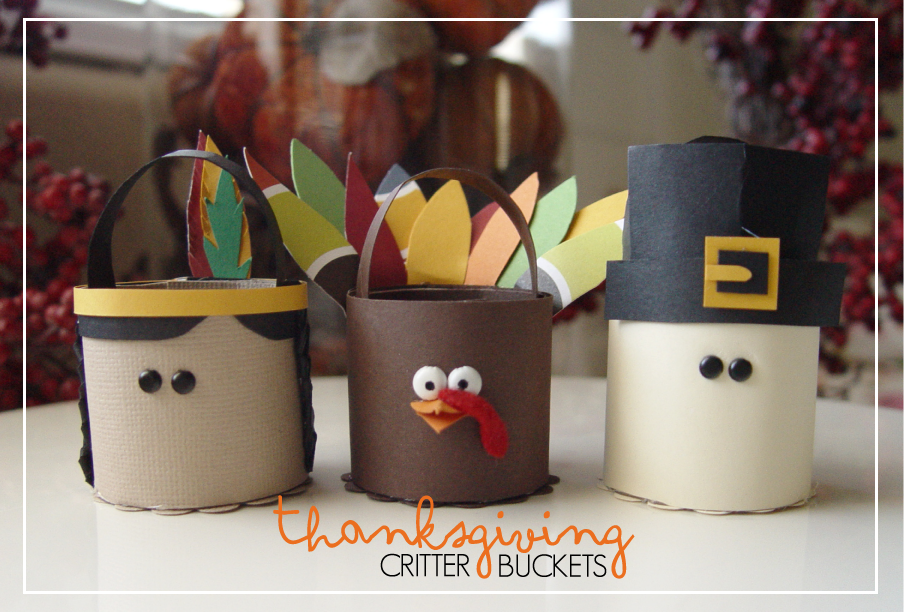 Thanksgiving Treat Critter Buckets {tutorial}