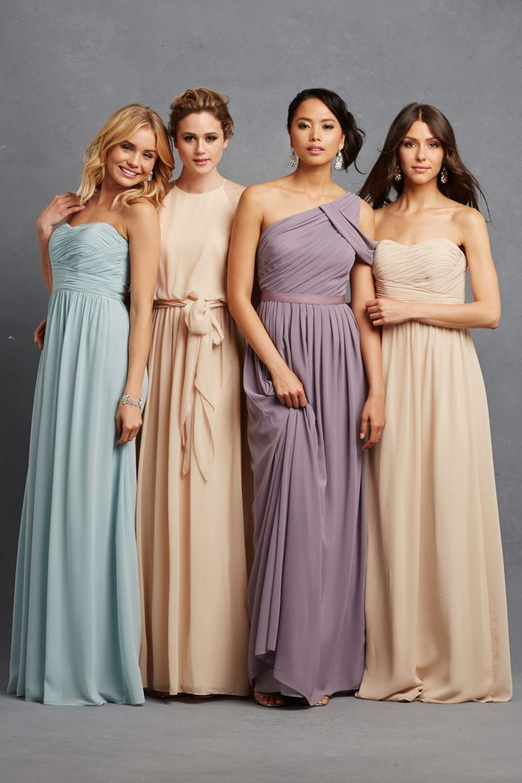 Chic romantic bridesmaid dresses to mix and match romantic chic romantic bridesmaid dresses the serenity bridesmaid collection from donna morgan has pieces that we ombrellifo Image collections