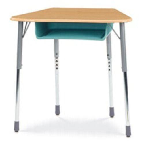 Virco Zoctboxm Zuma Student Desk Trapezoid Top For 8 Desk
