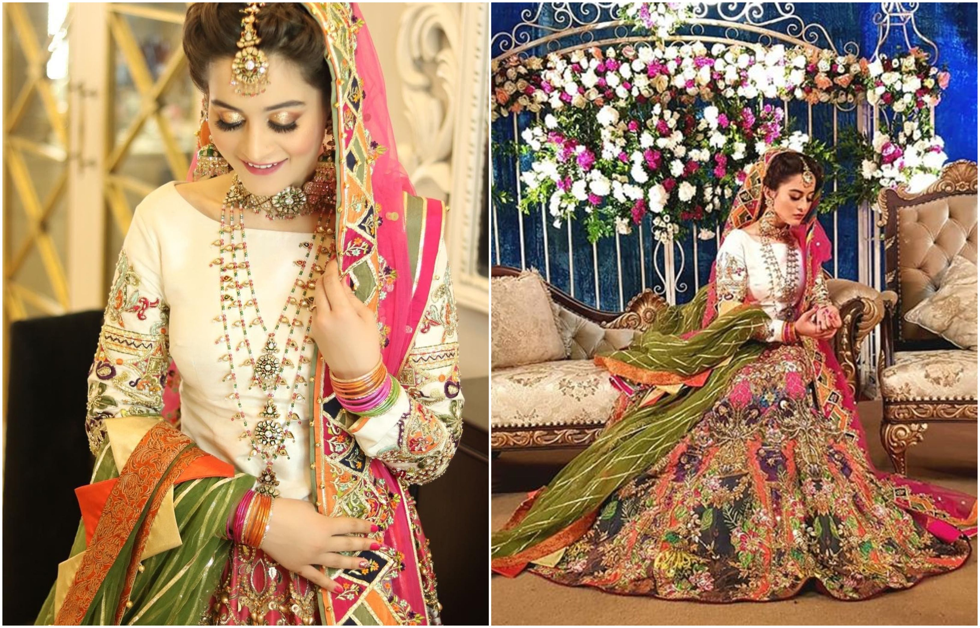 d6f3c40167 aiman is wearing erum khan couture on her mehndi ceremony. I wish that she  picks different designers for different events