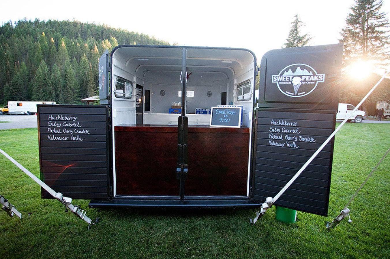 Horse trailer conversion horse trailer ice cream truck