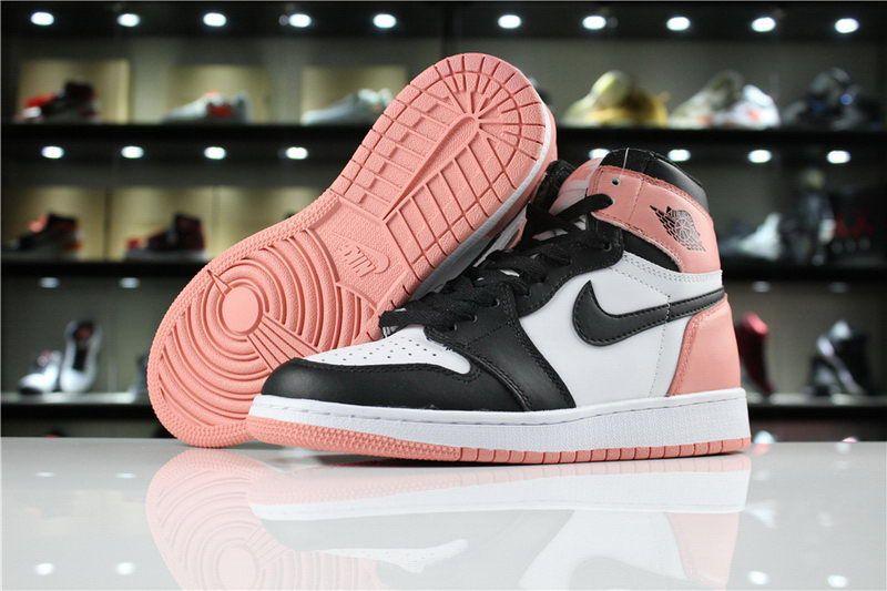 Air Jordan 1 Pink Black Toe 861428-101  36ddf08fc4ca