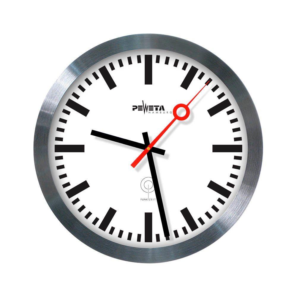 Peweta railway style wall clock with radio control 30 cm my peweta railway style wall clock with radio control 30 cm amipublicfo Gallery