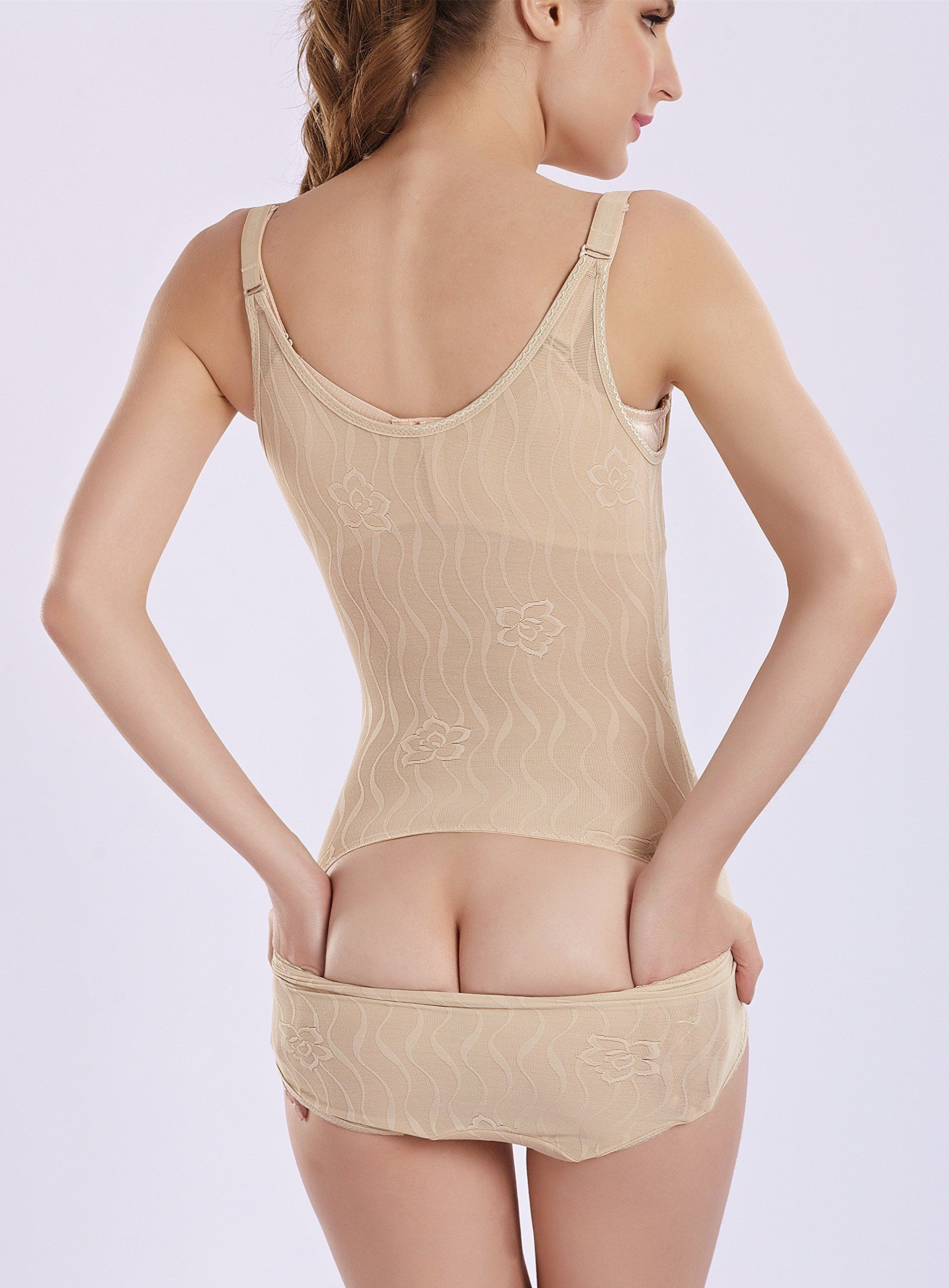 6a6b2f147e41b Kffyeye Womens Thin Seamless Firm Control Shapewear Open Bust Bodysuit  BodyShaper S Beige9020     You can get additional details at the image link.