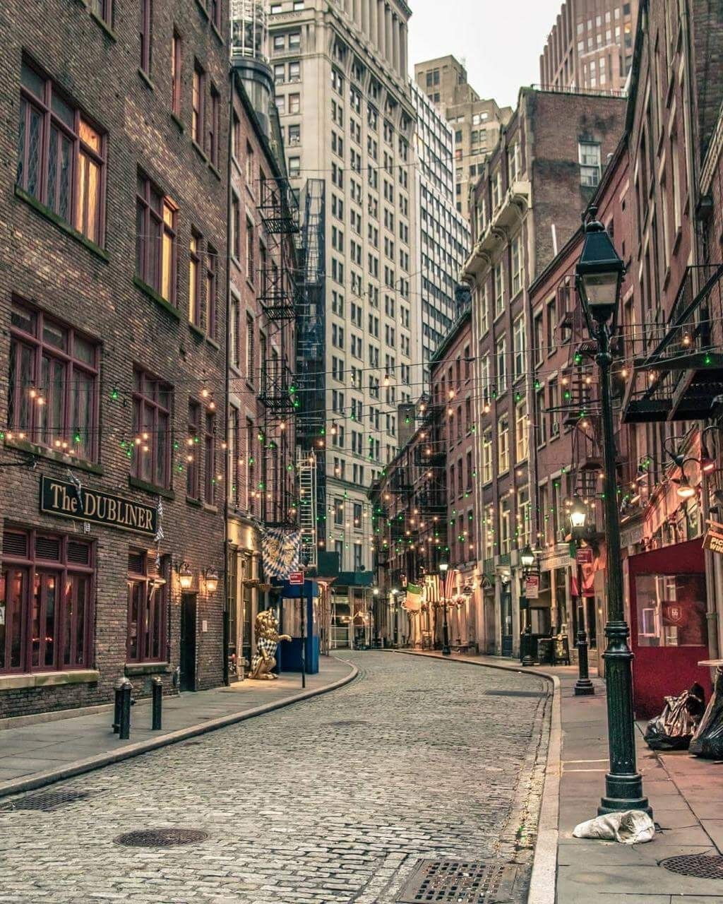 Stone a Street, Financial District, New York. #autumninnewyork