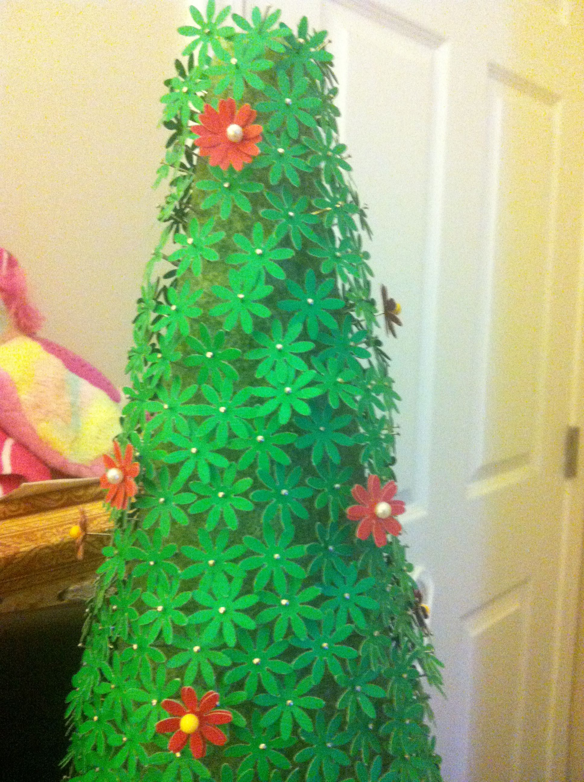 My Christmas Tree Made Out Green Card Stock, Pins And